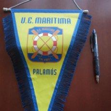 Coleccionismo deportivo: UE MARITIMA PALAMOS BANDERIN PENNANT FOOTBALL FUTBOL BANDERIN BANDERIOLA. Lote 243879225