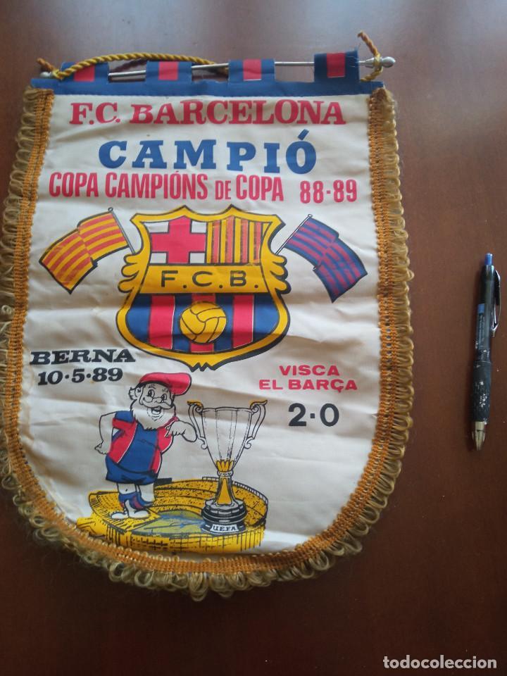 FINAL BERNA 1987 FC FC BARCELONA 1986 BANDERIN PENNANT FOOTBALL FUTBOL BANDERIN BANDERIOLA (Coleccionismo Deportivo - Banderas y Banderines de Fútbol)