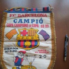 Coleccionismo deportivo: FINAL BERNA 1987 FC FC BARCELONA 1986 BANDERIN PENNANT FOOTBALL FUTBOL BANDERIN BANDERIOLA. Lote 274945853