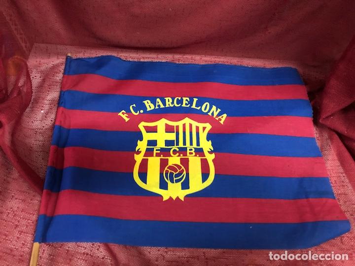 Coleccionismo deportivo: ANTIGUA BANDERA FC BARCELONA AÑOS 80 - Foto 2 - 245118090