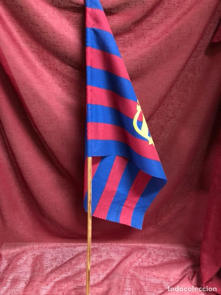 Coleccionismo deportivo: ANTIGUA BANDERA FC BARCELONA AÑOS 80 - Foto 3 - 245118090