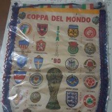 Coleccionismo deportivo: ITALIA 90,BANDERIN MUNDIAL DE FÚTBOL. Lote 245297280