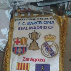 Coleccionismo deportivo: BANDERÍN FINAL COPA DEL REY 1983-BARCELONA REAL MADRID. Lote 245481015
