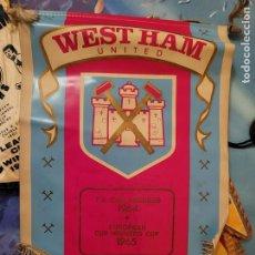 Coleccionismo deportivo: BANDERIN DE WESTHAM GRANDES DIMENSIONES. Lote 248252155