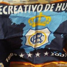 Coleccionismo deportivo: BANDERA RECREATIVO DE HUELVA,DECANO,FÚTBOL. Lote 252209485