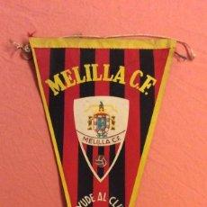 Collectionnisme sportif: BANDERIN MELILLA C. F. AYUDE AL CLUB. 1958. Lote 252780825