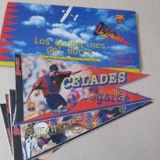 Coleccionismo deportivo: LOS BANDERINES DEL BARÇA - 98 /99 - LOTE 13 DIFERENTES ADHESIVOS. Lote 260470820