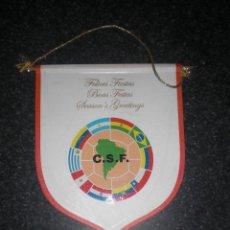 Coleccionismo deportivo: BANDERÍN FELICITACIÓN NAVIDEÑA DE LA CONMEBOL. Lote 262182470