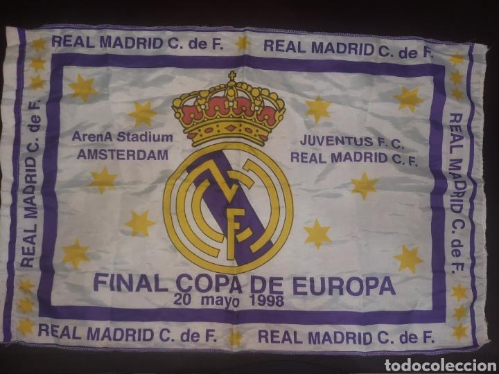BANDERA,FINAL COPA DE EUROPA. 1998.LA 7. (Coleccionismo Deportivo - Banderas y Banderines de Fútbol)