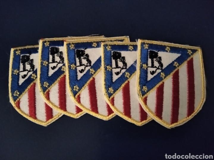 PARCHES TERMOADHESIVOS ATLÉTICO DE MADRID. AÑOS 80. LOTE DE 5. (Coleccionismo Deportivo - Banderas y Banderines de Fútbol)