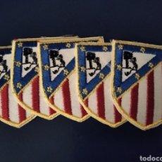 Coleccionismo deportivo: PARCHES TERMOADHESIVOS ATLÉTICO DE MADRID. AÑOS 80. LOTE DE 5.. Lote 262317485