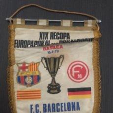 Coleccionismo deportivo: BANDERIN FINAL RECOPA BASILEA FCBARCELONA 1979. Lote 262717540