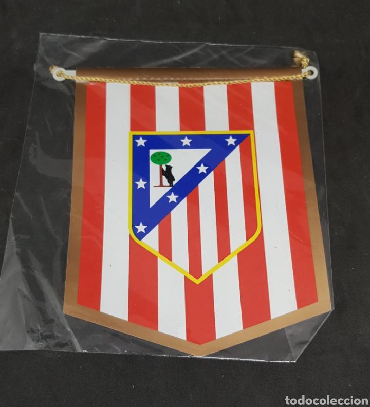 BANDERIN ATLETICO MADRID - 14X12 - CAR208 (Coleccionismo Deportivo - Banderas y Banderines de Fútbol)