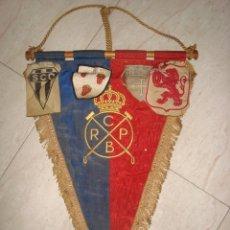 Coleccionismo deportivo: ANTIGUO BANDERIN R.C.P.B. REAL CLUB DE POLO DE BARCELONA . AÑOS 30-40. Lote 264794784
