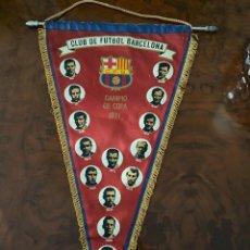 Coleccionismo deportivo: BANDERIN CLUB DE FUTBOL BARCELONA CAMPIO DE COPA 1971. Lote 267360584