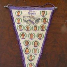 Coleccionismo deportivo: BANDERIN REAL MADRID CAMPEON DE LIGA 77 78 HISTORIAL PARTE PSTERIOR. Lote 267371979