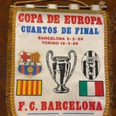 Coleccionismo deportivo: BANDERIN COPA DE EUROPA BARCELONA JUVENTUS BUEN ESTADO. Lote 267422419