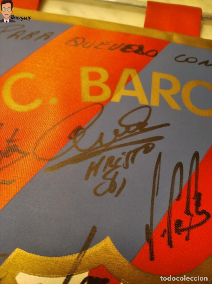 Coleccionismo deportivo: BANDERÍN FIRMADO F.C. BARCELONA - AUTÓGRAFOS 96 / 97 - RONALDO FIGO GUARDIOLA STOICHKOV ... (BARÇA) - Foto 6 - 269119663