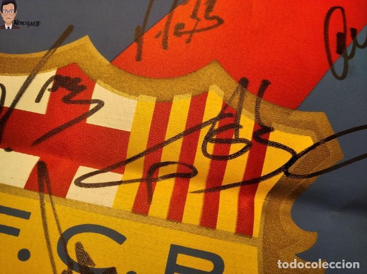 Coleccionismo deportivo: BANDERÍN FIRMADO F.C. BARCELONA - AUTÓGRAFOS 96 / 97 - RONALDO FIGO GUARDIOLA STOICHKOV ... (BARÇA) - Foto 9 - 269119663