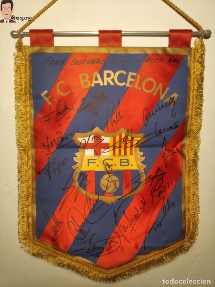Coleccionismo deportivo: BANDERÍN FIRMADO F.C. BARCELONA - AUTÓGRAFOS 96 / 97 - RONALDO FIGO GUARDIOLA STOICHKOV ... (BARÇA) - Foto 20 - 269119663