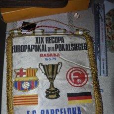 Collectionnisme sportif: BANDERIN. FIRMADO POR JUGADORES F.C. BARCELONA . BASILEA 16/05/1979. ORIGINAL.. Lote 272042743