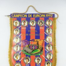 Collectionnisme sportif: BANDERIN CAMPEON DE EUROPA 1992 FUTBOL CLUB BARCELONA. Lote 272990828