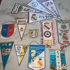Collectionnisme sportif: 13 BANDERINES DE FÚTBOL DEL REAL MADRID - AÑOS 70-80 - COPA UEFA Y OTROS - UNO FIRMADO POR JUGADORES. Lote 274627963