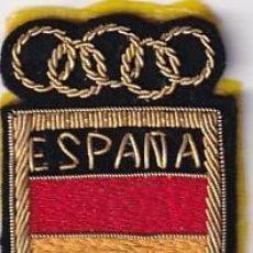 Coleccionismo deportivo: ANTIGUO EMBLEMA DE TELA O PARCHE ESPAÑA BANDERA ESPAÑOLA JUEGOS OLIMPICOS OLIMPIADAS. Lote 275701183