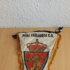 Coleccionismo deportivo: BANDERIN REAL ZARAGOZA FIRMADO 86. Lote 276170298