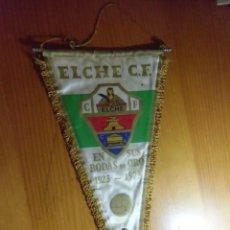 Collectionnisme sportif: ELCHE C.F.BANDERIN BODAS DE ORO 1923-1973.CON EMBLEMA ESMALTADO DE ALFILER.. Lote 276902648