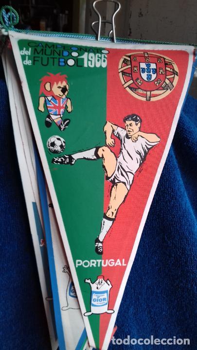 PORTUGAL CAMPEONATO MUNDIAL DE FUTBOL 1966 BANDERIN DE GIOR (Coleccionismo Deportivo - Banderas y Banderines de Fútbol)