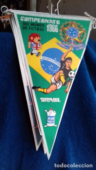 BRASIL CAMPEONATO MUNDIAL DE FUTBOL 1966 BANDERIN DE GIOR (Coleccionismo Deportivo - Banderas y Banderines de Fútbol)