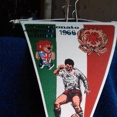 Coleccionismo deportivo: ITALIA CAMPEONATO MUNDIAL DE FUTBOL 1966 BANDERIN DE GIOR. Lote 277151763