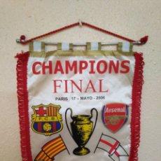 Coleccionismo deportivo: BANDERIN ( 40 X 29 ) CHAMPIONS FINAL PARÍS 17-MAYO-2006 , BARCELONA-ARSENAL. Lote 277300528