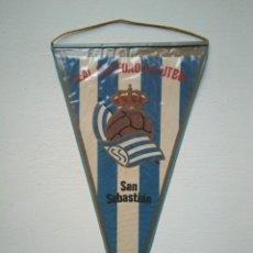 Coleccionismo deportivo: ANTIGUO BANDERÍN REAL SOCIEDAD DE FÚTBOL. Lote 278412598