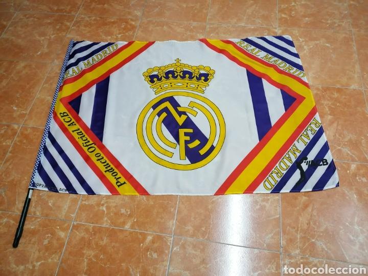 BANDERA REAL MADRID ACB (Coleccionismo Deportivo - Banderas y Banderines de Fútbol)
