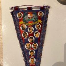 Coleccionismo deportivo: BANDERIN CAMPEON LIGA 1973-74. F.C. BARCELONA. GRAN TAMAÑO. ESPECTACULAR. Lote 285637738