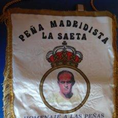 Coleccionismo deportivo: (F-210909)BANDERIN PEÑA MADRIDISTA LA SAETA XIV ANIVERSARIO - REAL MADRID - DI STEFANO. Lote 287992683
