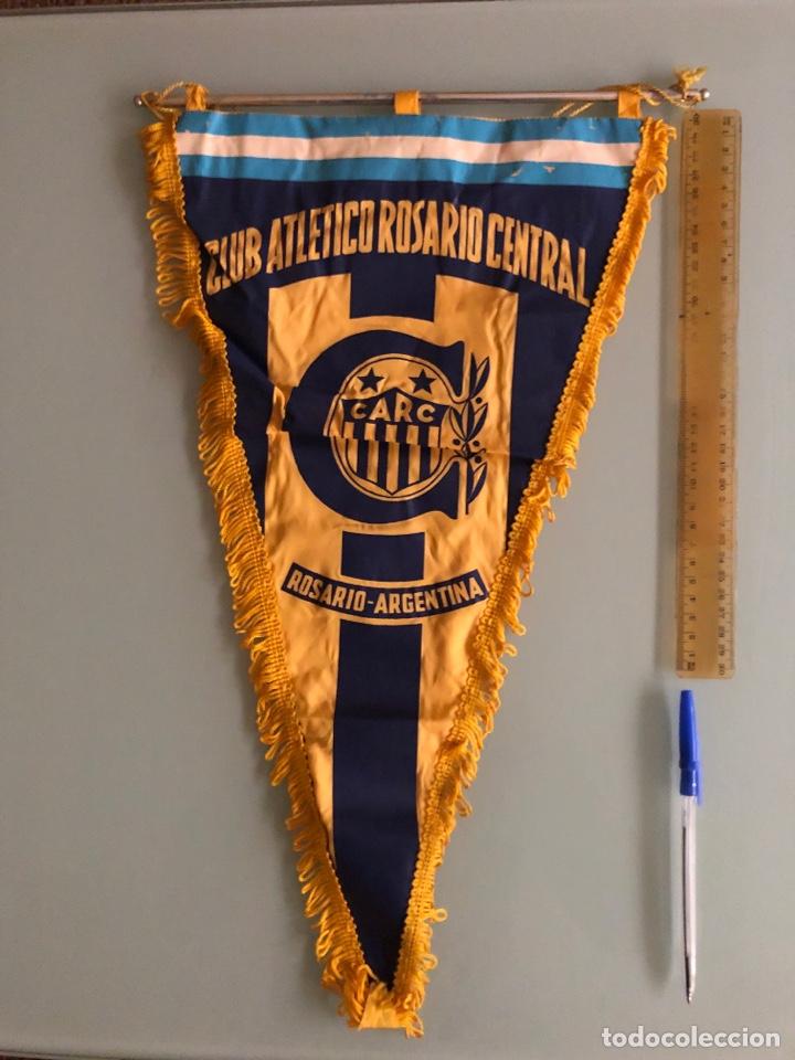 BANDERIN CLUB ATLÉTICO ROSARIO CENTRAL AÑOS 70 (Coleccionismo Deportivo - Banderas y Banderines de Fútbol)