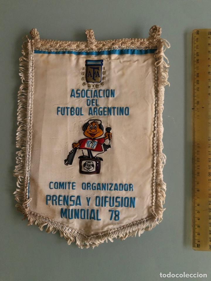 ARGENTINA 78 BANDERIN OFICIAL COMITÉ ORGANIZADOR PRENSA (Coleccionismo Deportivo - Banderas y Banderines de Fútbol)