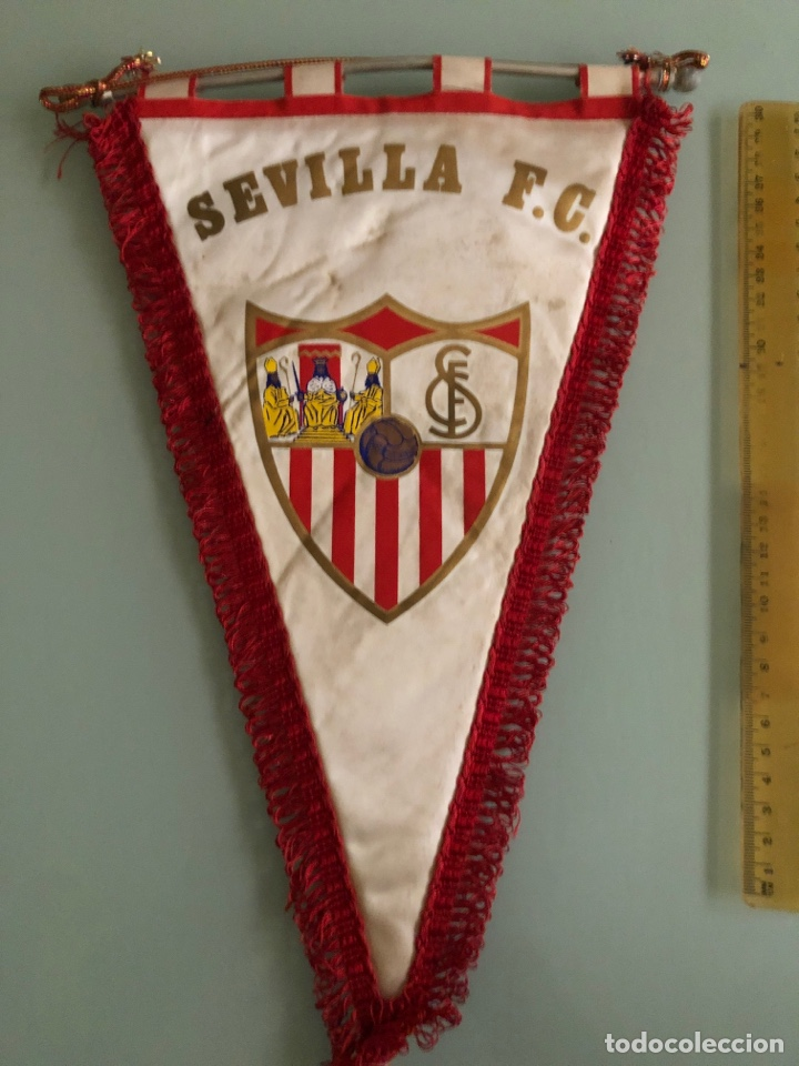 SEVILLA CF BANDERIN AÑOS 70 (Coleccionismo Deportivo - Banderas y Banderines de Fútbol)