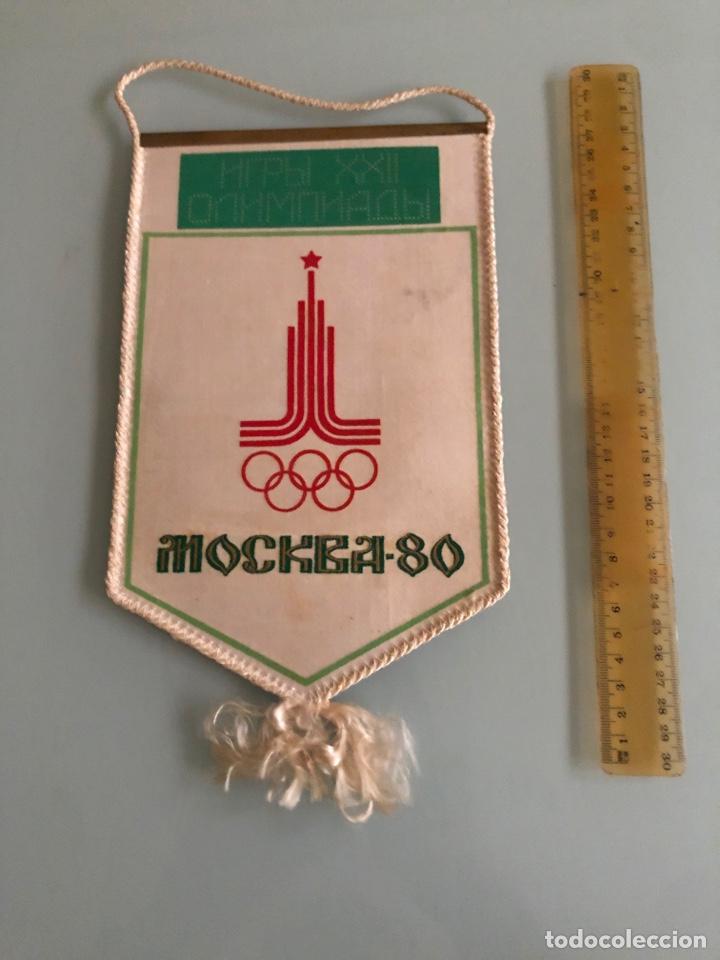 Coleccionismo deportivo: 1980 Olimpiadas de Moscú Banderin CCCP Futbol - Foto 2 - 288316478