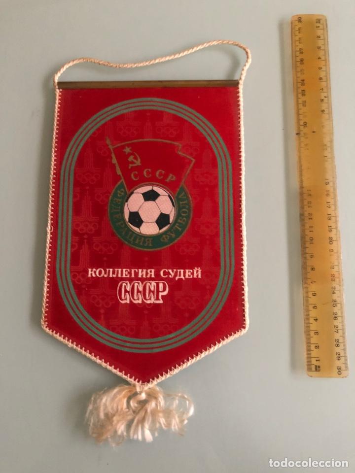 1980 OLIMPIADAS DE MOSCÚ BANDERIN CCCP FUTBOL (Coleccionismo Deportivo - Banderas y Banderines de Fútbol)