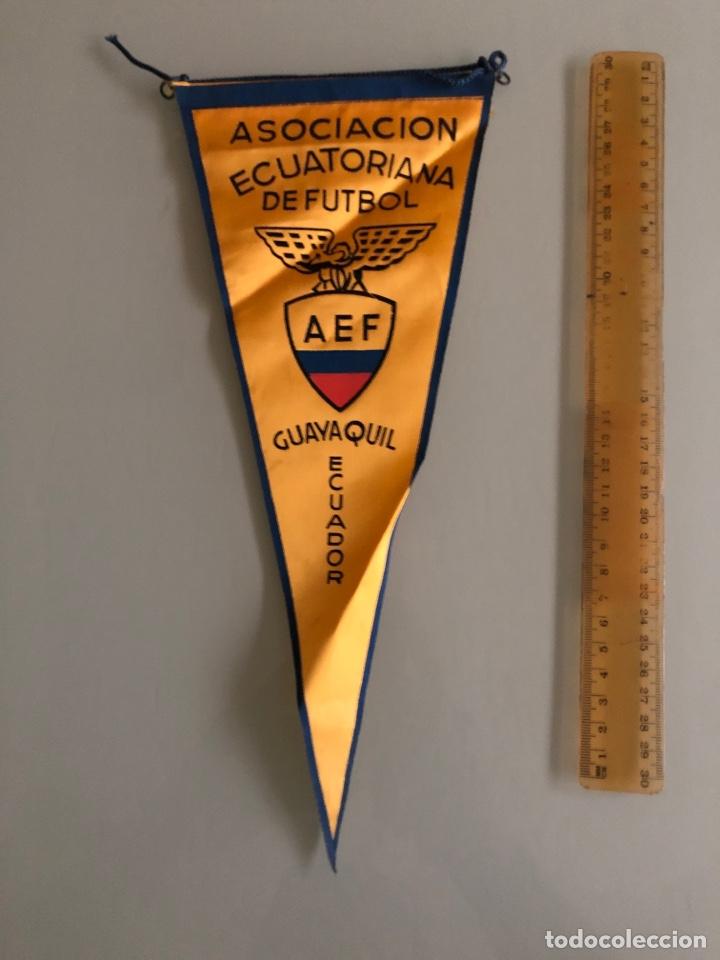 ASOCIACIÓN ECUATORIANA DE FÚTBOL BANDERIN AÑOS 70 (Coleccionismo Deportivo - Banderas y Banderines de Fútbol)