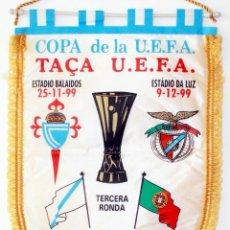 Coleccionismo deportivo: BANDERÍN CELTA - BENFICA AÑO 2000 UEFA. Lote 288601813