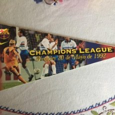 Coleccionismo deportivo: BANDERIN PEGATINA CHAMPIONS LEAGUE WEMBLEY 1992. Lote 289688438