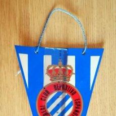 Coleccionismo deportivo: BANDERÍN PLÁSTICO RCD ESPANYOL RCD ESPAÑOL ESCUDO ANTIGUO. Lote 289689068