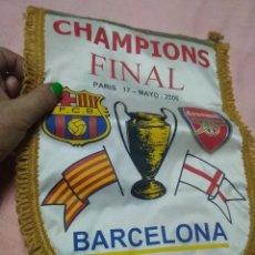 Coleccionismo deportivo: BANDERÍN FUTBOL FINAL CHAMPIONS F.C. BARCELONA - ARSENAL (PARIS 17/05/2006). Lote 290101393