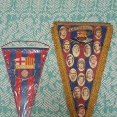 Coleccionismo deportivo: BANDERINES FC BARCELONA 1975-1976 Y EPOCA ANTERIOR CRUYFF NEESKENS SOTIL MIGUELI MARINHO BANDERIN. Lote 294480528