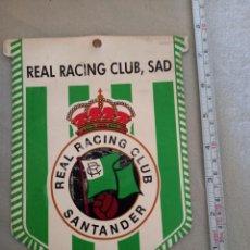 Coleccionismo deportivo: ANTIGUO BANDERÍN PARA EL COCHE DEL RACING DE SANTANDER. Lote 295448478